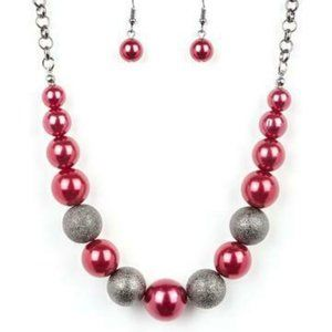 Color me CEO Red Necklace and Earrings